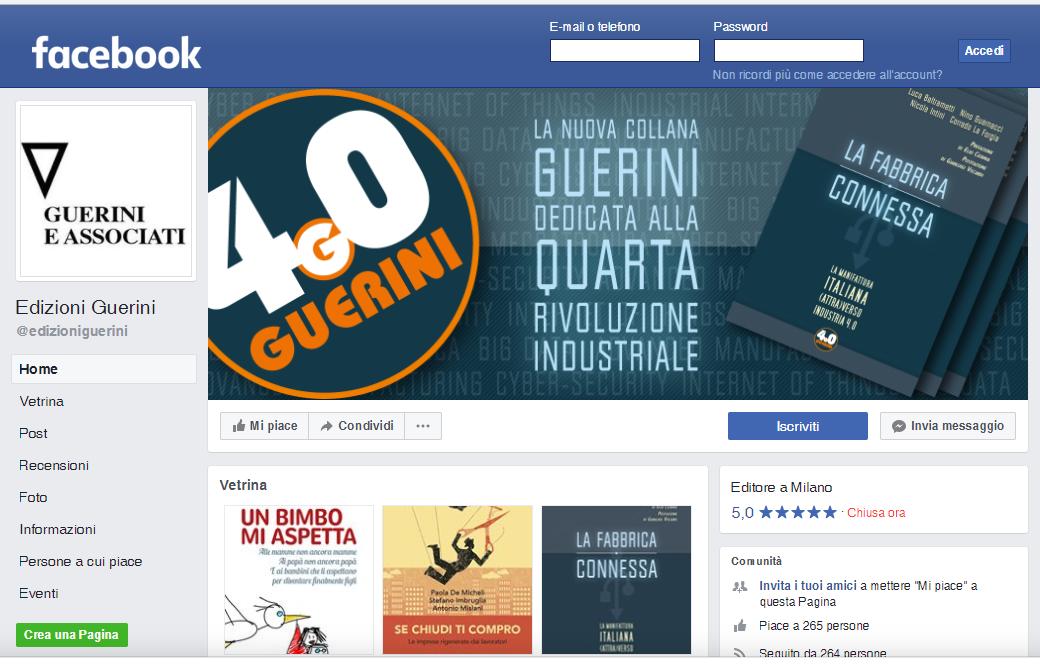 Videata Copertina Guerini 4.0 su Facebook