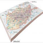 Cartografia. Zolla a rilievo Afghanistan