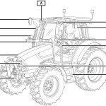 Illustrazione tecnica per manuale Trattore Lamborghini Nitro