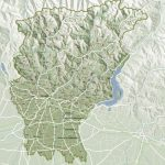 Cartografia. carta di Provincia a rilievo ottenuto da dati geo dem