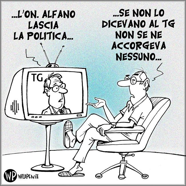 Alfano lascia la politica