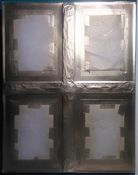Mirasole - progetto ambone, la lastra di fondo parzialmente dorata