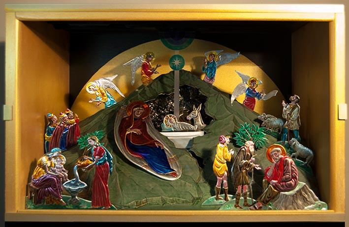 Pseudo Icona della Natività, finita