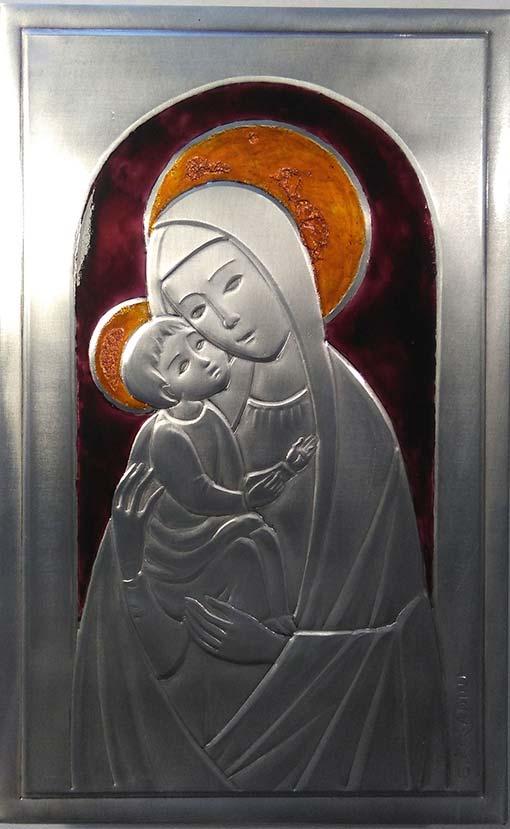 Madonna con Bambino smalto rovinato