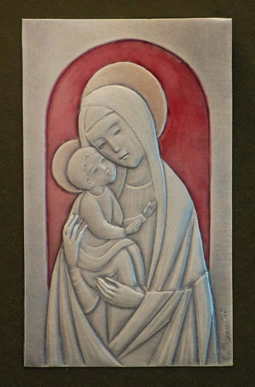 Madonna con Bambino di casa Venturini. Opera di Ettore Paganini