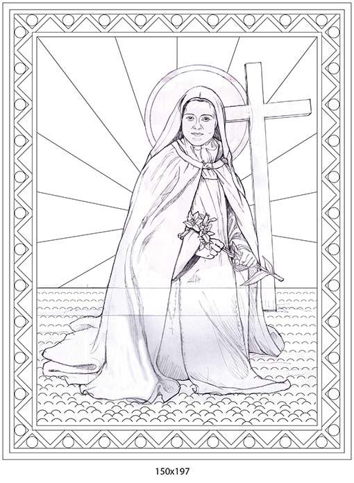 Santa Teresina del Bambin Gesù. Bozza sbalzo santa Teresina