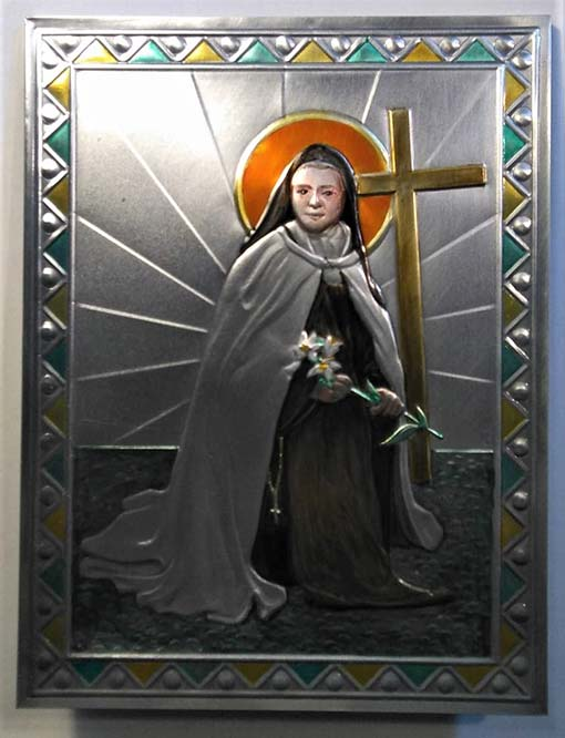 Santa Teresina del Bambin Gesù. L'icona terminata.