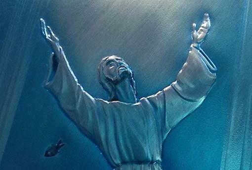 Particolare del Cristo degli Abissi